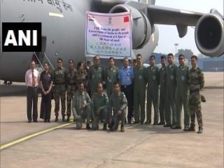 ब्रिटेन से आवश्यक चिकित्सकीय सामग्री लेकर चेन्नई पहुंचे वायु सेना के विमान