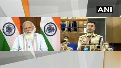 प्रधानमंत्री नरेंद्र मोदी ने वीडियो कॉन्फ्रेंसिंग के जरिए 'सरदार वल्लभ भाई पटेल राष्ट्रीय पुलिस अकादमी संवाद