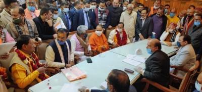 उत्तर प्रदेश : विधान परिषद चुनाव के लिए भाजपा के दस उम्मीदवारों ने नामांकन पत्र दाखिल किया