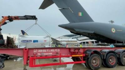 यूएई से गुजरात पहुंचे सात ऑक्सीजन टैंकर