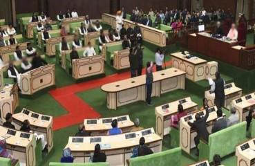 राजस्थान विस: भाजपा विधायकों की नारेबाजी, सदन की कार्यवाही आधे घंटे के लिए स्थगित