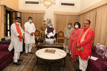 भाजपा की उपचुनाव में केन्द्रीय सुरक्षा बल तैनात करने की मांग, राज्यपाल को दिया ज्ञापन
