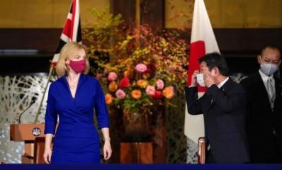 जापान, ब्रिटेन ने मुक्त व्यापार समझौते पर हस्ताक्षर किए