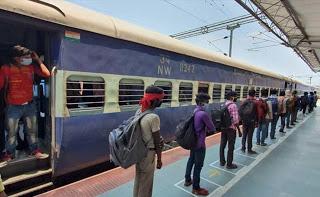 रेलवे ने 4155 श्रमिक स्पेशल ट्रेनें चलायीं