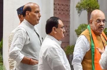किसान आंदोलन को लेकर अमित शाह, राजनाथ सिंह, नरेंद्र तोमर ने भाजपा अध्यक्ष के साथ चर्चा की