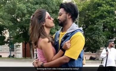 हिना खान बॉयफ्रेंड संग सड़क पर रोमांस करती आईं नजर