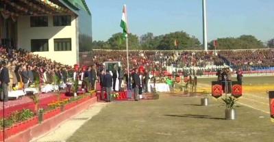 कश्मीर में कड़ी सुरक्षा के बीच मनाया गया गणतंत्र दिवस समारोह