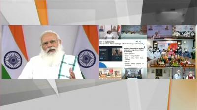 प्रधानमंत्री नरेंद्र मोदी वीडियो कॉन्फ्रेंसिंग के जरिए टॉयकैथॉन-2021 के प्रतिभागियों से बात