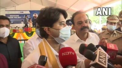 तेलंगाना के 16 ग्रीन जोन में ड्रोन से होगी दवाओं की आपूर्ति : सिंधिया