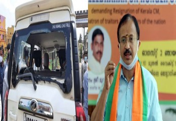 बंगाल में विदेश राज्य मंत्री वी. मुरलीधरन के काफिले पर हमला