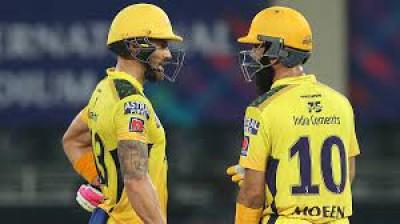 डुप्लेसिस की धमाकेदार पारी, चेन्नई के तीन विकेट पर 192 रन