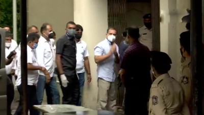 गुजरात मानहानि मामले में कांग्रेस नेता राहुल गांधी सूरत कोर्ट पहुंचे।